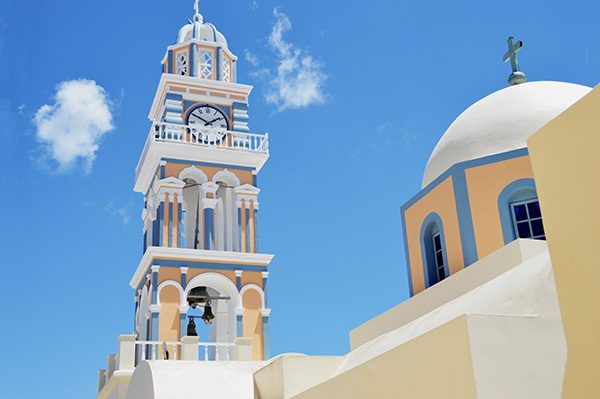 Cathedral Church of Saint John The Baptist, Fira, Santorini, Cyclades, Greece