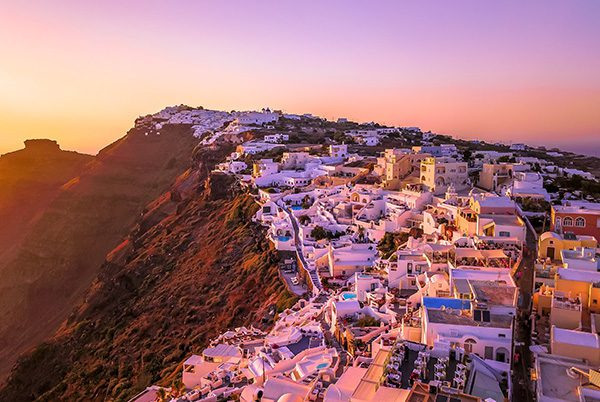 Santorini sunset, Cyclades